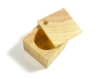 Box birdhouses with hinged lid - A decorate or paint