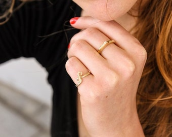 Sculpted gold ring, handmade, 14k, unique ring inspired by Moroccan design