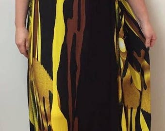 LAGENLOOK PARACHUTE dress by ikat 100% rayon fits all sizes