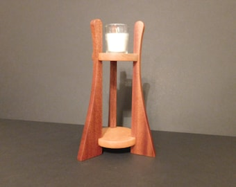 Wooden Votive Candle Stand