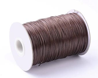 1.5 mm Brown waxed polyester cord