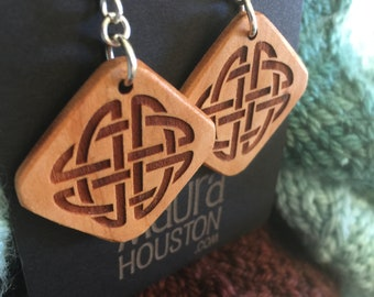 Wooden Celtic Knot Earrings