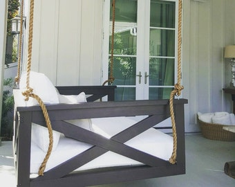 """Porch Swing: The """"Cooper River"""" Swing Bed -- FREE SHIPPING! (Bedswing)"""