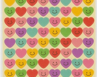 Colourful Heart Stickers - Kawaii Japanese Stickers  - Reference C5631-32