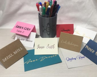 Custom Calligraphy Place Cards, SET OF 25