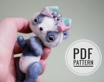 Miniature PANDA PATTERN PDF + Bonus Video Jointing, anime style panda pattern,  easy teddy bear pattern, cute micro panda tutorials