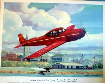 1940s Ryan Navion Nav-4 4 Place Flying Politician