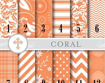 Coral Pattern Vinyl, Outdoor 651 Vinyl, HTV Heat Transfer Vinyl, Iron On Vinyl. Chevron Floral Dots