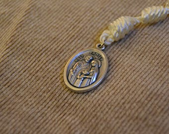 CUSTOM Holy Family Pendent and Cross Straight Rope Chaplets