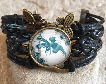Vintage Fairy Bracelet, vintage, fairies, play with fairies, flower fairies, gift for her, fairy jewelry, christmas gift, gift for friend