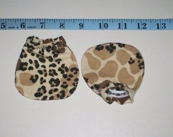 ON SALE Funky Animal Print Baby Mitts