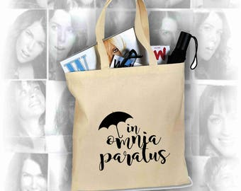 GILMORE GIRLS, In Omnia Paratus, Canvas Shopping Bag, Girls Night, Fun Gift Idea, Screen Printed Tote Bag