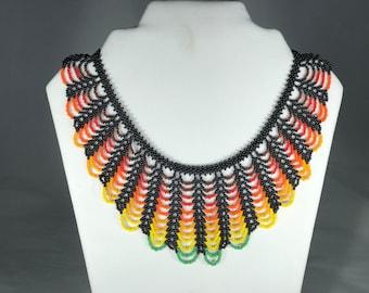 Chaquiras Wave of Life Choker Handmade (beadswork)