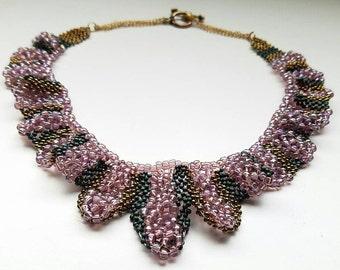 Elegant Hand-Woven Beaded Necklace