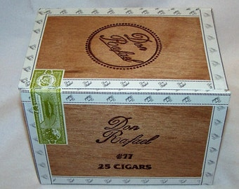 Empty Cigar Box Solid Wood Don Rafael #77 Cigar Box Natural Wood