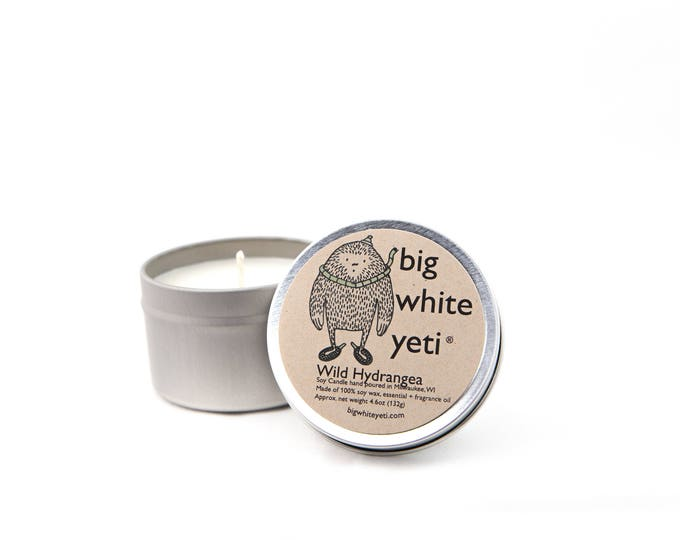 Wild Hydrangea Soy Candle- 6oz Tin