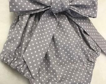 Grey polka dot bloomers