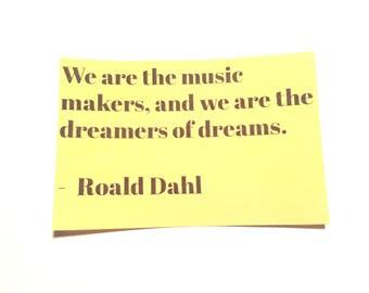Roald Dahl Quote Sticker