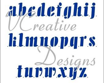 Jazz Lower Case alphabet stencil
