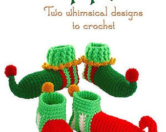 Christmas Elf Slipper Shoes Crochet pdf Pattern