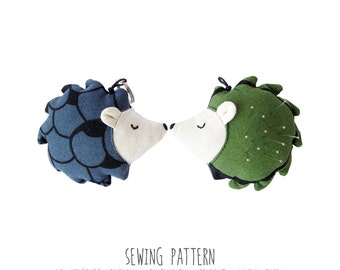 Instructions for Sewing Mr. Hedgehog, Diy Pattern, Sewing Pattern & Tutorial, Plush Toy Pattern, PDF INSTANT DOWNLOAD, Sewing Diy