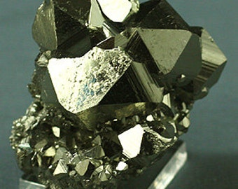 Pyrite, unusual cubo-octahedral crystals, Peru, Mineral Specimen for Sale