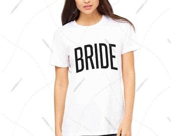 "Women - Girls - Premium Retail Fit ""Bride"" 2016 Crew-neck Tee, T-Shirt (S,M, L, XL)"