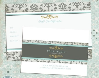 ON SALE NOW Photography Gift Certificate Template - Instant Download