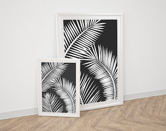 Wall Art Prints - Black Palm