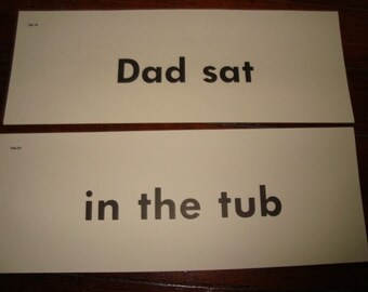 Vintage Flash Cards Dad Sat in the Tub