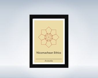 Philosophy art - Aristotle - philosophical origami minimalistic print on paper or canvas up to A0 size inspired by a philosophy book