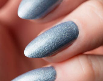 Quantum Nail Lacquer - Holographic Ice Blue - Tips from the Wasteland - .45oz/13.2mL