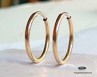 12mm Gold Filled Hoop Earring Endless Hoop earwire F336GF
