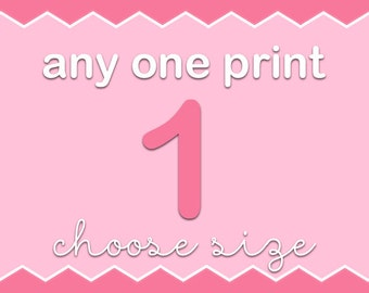 PinkeeHome - Any 1 print from my shop