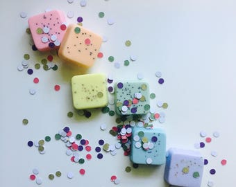 RAINBOW Pastel ROYGBV Sampler Soap Set of 6