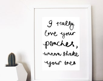 monochrome wanna shake your tree print