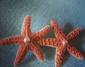 Mermaid, Starfish, Beach wedding, tropical wedding, bridal, starfish barrette, starfish hair clip, fish, ocean clip,beach, mermaid