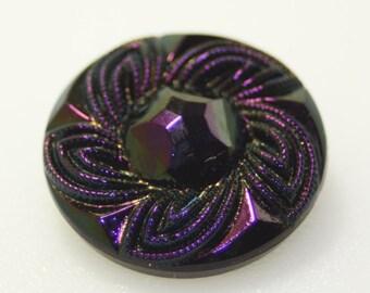 Czech Glass Button, Large, 27mm