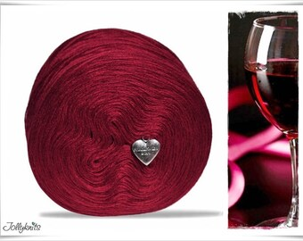 Solid Yarn Merino Wine Red 500m