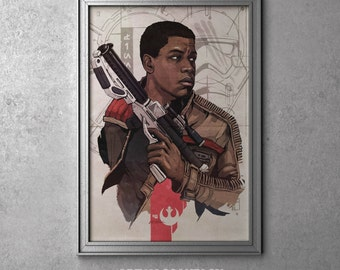 Finn - STAR WARS - Episode VII - The Force Awakens - Original Art Poster