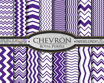 Royal Purple Chevron Graphics Download: Royal Digital Paper with Violet Zigzag - Violet Chevron and Purple Zigzag Backgrounds and Backdrops