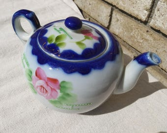 1900s hand painted Nippon Japanese tea pot