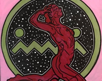 Celestial Hottie RED with Green ME on Pink (2018)