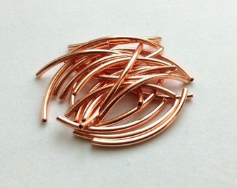 1mm-ID Copper Plated Tubes - 24 pieces