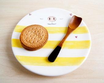 Kawaii ceramic dish, Ceramic plate, Trinket dish, Ceramics and pottery, Ceramic dishes, Serving dish, Decorative plates, Serving plates