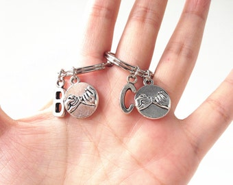 2 pinky promise keychain,Pinky Swear Keychain,Friendship keychain, BFF keychain,best friend keychain