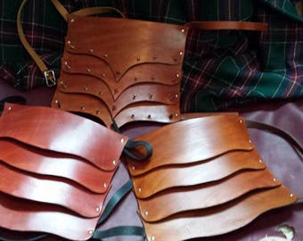 Leather Pauldron Shoulder Armor for Renaissance and Reenactment