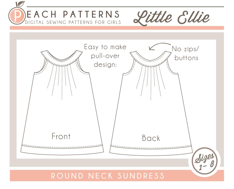 Little ellie round collar yoke neck dress instant download pdf zoom jeuxipadfo Gallery