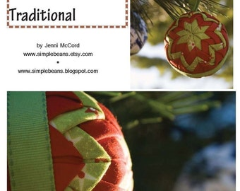 Traditional Quilted Fabric Ball Ornaments Pattern and Tutorial