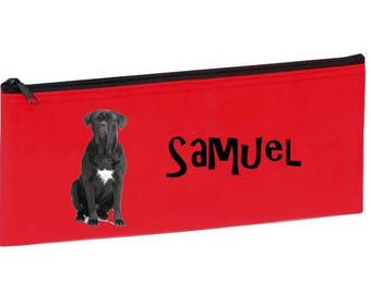 Red cane corso personalized with name package